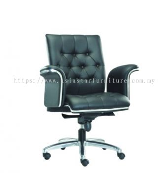 CEO DIRECTOR LOW BACK CHAIR C/W CHROME TRIMMING LINE ASE 1083