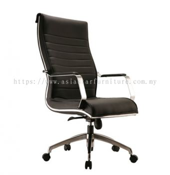 MAXIMO HIGH BACK CHAIR C/W CHROME TRIMMING LINE ACL 10(B)