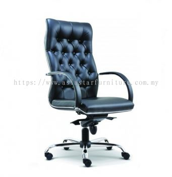 MORE DIRECTOR HIGH BACK CHAIR C/W CHROME TRIMMING LINE ASE 2081