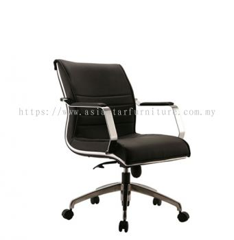 MAXIMO LOW BACK CHAIR C/W CHROME TRIMMING LINE ACL 8(B)