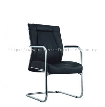 TESSA II VISITOR CHAIR C/W CHROME TRIMMING LINE ACL 8044