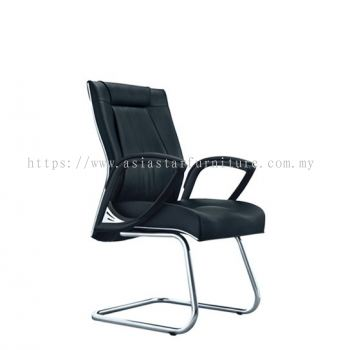 TESSA II VISITOR CHAIR C/W CHROME TRIMMING LINE ACL 8055