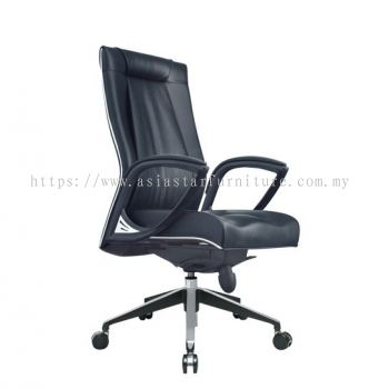 TESSA II MEDIUM BACK CHAIR C/W CHROME TRIMMING LINE ACL 8077
