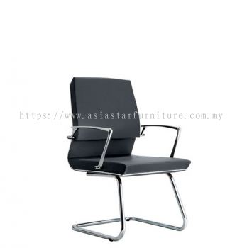 COLONNI VISITOR CHAIR WITH CHROME TRIMMING LINE ACL 8844