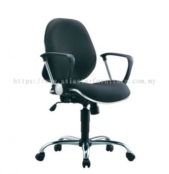 ELIXIR LOW BACK CHAIR C/W CHROME TRIMMING LINE ACL 272