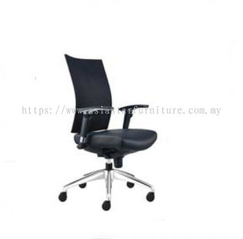 INCLUDE MEDIUM BACK CHAIR WITH ALUMINIUM BASE ID391L