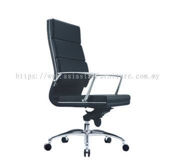 KENT HIGH BACK CHAIR WITH CHROME TRIMMING LINE ACL 6011