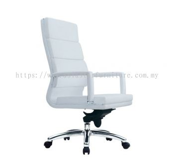 KENT HIGH BACK CHAIR WITH CHROME TRIMMING LINE ACL 7011