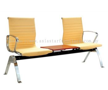 LEO TWO SEATER LINK CHAIR UPHOLSTERY WITH CHROME BODY FRAME ACL 8400-(3T)(TABLE)