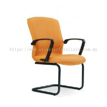 FIGHTER VISITOR CHAIR WITH EPOXY BLACK CANTILEVER BASE FT4