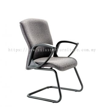 KENO VISITOR CHAIR WITH EPOXY BLACK CANTILEVER BASE ACL 884