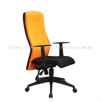 ORANGE HIGH BACK CHAIR WITH ROCKET NYLON BASE OR1