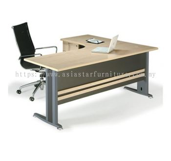 TL1815 EXECUTIVE L-SHAPE TABLE FRONT VIEW