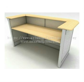 reception table with steel modesty
