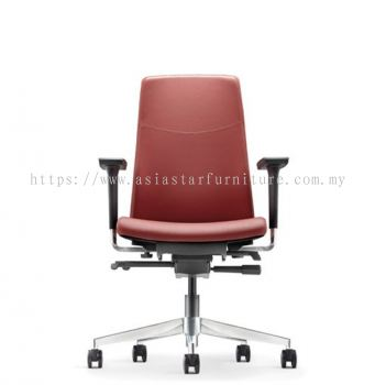 HUGO EXECUTIVE LOW BACK CHAIR WITH ALUMINIUM DIE-CAST BASE AHG 6212L