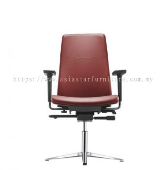 HUGO EXECUTIVE VISITOR CHAIR C/W ARMREST WITH ALUMINIUM BASE AHG 6213L