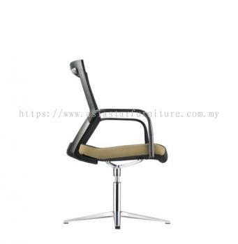 MAXIM VISITOR MESH BACK CHAIR C/W 4 PRONGED BASE (FABRIC) AMX 8113N