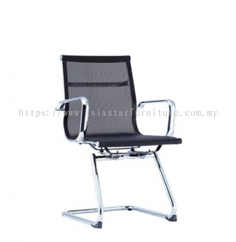 LEO-AIR VISITOR FULL MESH CHAIR C/W CHROME BODY FRAME