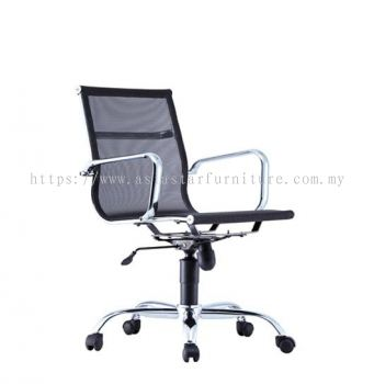 LEO-AIR 1 LOW BACK FULL MESH CHAIR C/W CHROME BODY FRAME