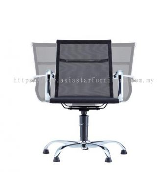 LEO-AIR AUTO RETURN VISITOR FULL MESH CHAIR C/W CHROME BODY FRAME