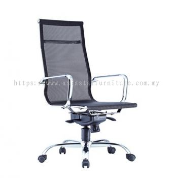 LEO-AIR 2 HIGH BACK FULL MESH CHAIR C/W CHROME BODY FRAME