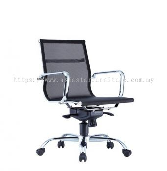 LEO-AIR 2 LOW BACK FULL MESH CHAIR C/W CHROME BODY FRAME