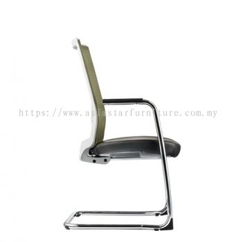 SURFACE VISITOR MESH BACK CHAIR C/W CHROME CANTILEVER BASE (LEATHER) ASF 8413L