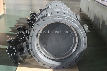 Double Eccentric Butterfly Valve, SS316 Disc