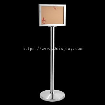 17134-A3 S. Steel Sign Stand-Horizontal