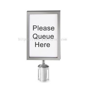 S.steel A4-Sign Holder(Vertical)for Q-up Stand