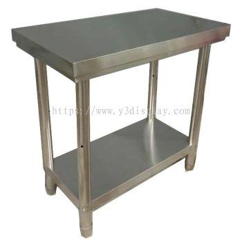 64401-S.Steel 2Tier Work table 800x450x800mm