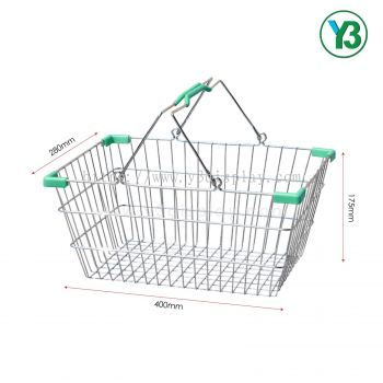 40X28CM Chromed Shopping Basket