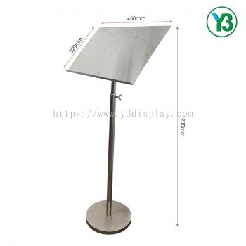 20202-S.STEEL MENU STAND-123HX45L CM