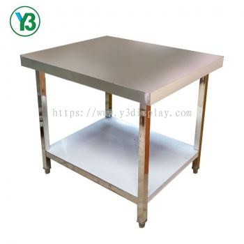 71251-S.STEEL 2TIER WORK TABLE(OS)900X760X820H MM