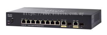 Cisco 10-port Gigabit POE Managed Switch.SG350-10P/SG350-10P-K9-UK