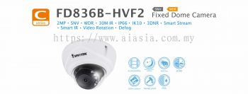 FD836B-HVF2. Vivotek Fixed Dome Camera