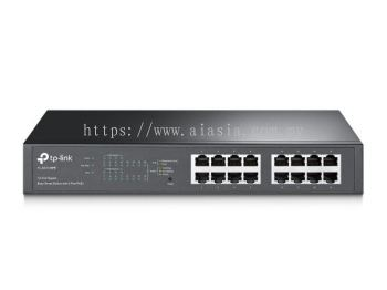 TL-SG1016PE. TPlink 16-Port Gigabit Easy Smart PoE Switch with 8-Port PoE+