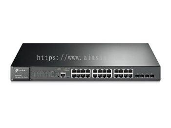 T2600G-28MPS (TL-SG3424P). TPlink JetStream 24-Port Gigabit L2 Managed PoE+ Switch with 4 SFP Slots