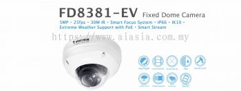 FD8381-EV. Vivotek Fixed Dome Camera
