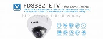 FD8382-ETV. Vivotek Fixed Dome Camera