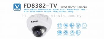 FD8382-EVF2. Vivotek Fixed Dome Camera
