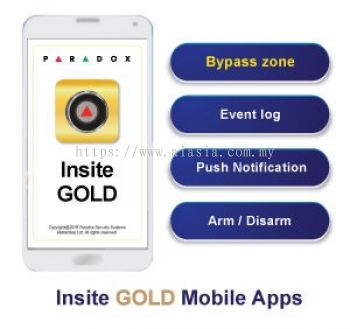 Insite Gold. Paradox Mobile apps for Paradox alarm