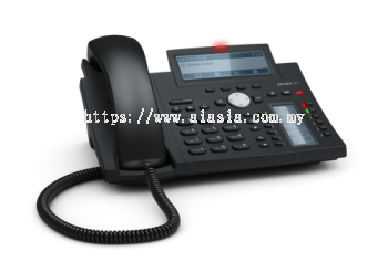 D345. Snom Desk Telephone (High resolution display and self-labeling keys)