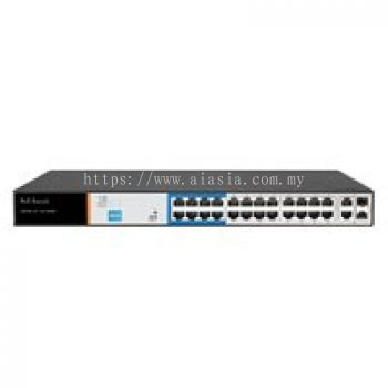IES-124-P. PVE 24-Port PoE Switch with 2 Uplink. #AIASIA Connect