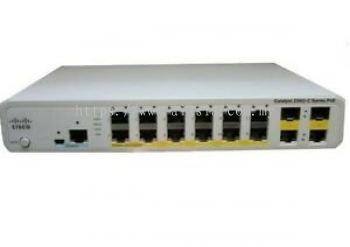 WS-C2960C-12PC-L. Cisco Catalyst 2960C Switch 12 FE PoE, 2 x Dual Uplink, Lan Base. #AIASIA Connect