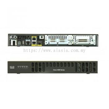ISR4221/K9. Cisco ISR 4221 (2GE,2NIM,8G FLASH,4G DRAM,IPB). #AIASIA Connect