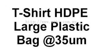 T-Shirt HDPE Large Plastic Bag @ 35um