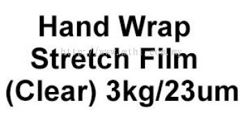 Hand Wrap Stretch Film  (Clear) 3kg&23um