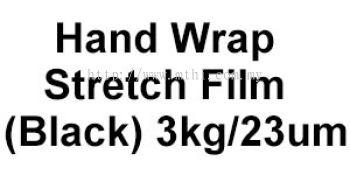 Hand Wrap Stretch Film  (Black) 3kg&23um