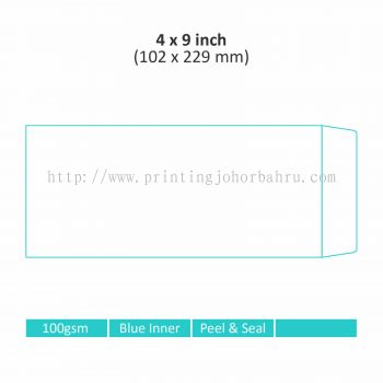 "4"" x 9"" Non-Window Envelope"